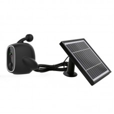WiFi Solar Power Outdoor Camera 2MP 1080P PIR Motion Sensor with Solar Panel (Black)