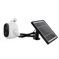 WiFi Solar Power Outdoor Camera 2MP 1080P PIR Motion Sensor with Solar Panel (White)