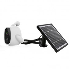 WiFi Solar Power Outdoor Camera 2MP 1080P PIR Motion Sensor with Solar Panel (White)