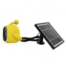 WiFi Solar Power Outdoor Camera 2MP 1080P PIR Motion Sensor with Solar Panel (Yellow)