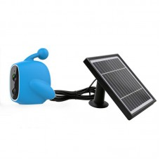WiFi Solar Power Outdoor Camera 2MP 1080P PIR Motion Sensor with Solar Panel (Blue)