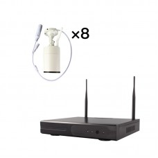 8CH WiFi Security Camera System Wireless NVR Security System Kit w/ 8pcs 2MP Cameras Outdoor Indoor