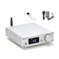 Bluetooth 5.0 DAC ES9038 Headphone Amplifier USB DAC DSD512 Support For LDAC NXC07 (Silver)