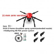 E410S Aricultural Drone 10L 4-axis UAV Quadcopter Frame Kit +X8 Motor with Spraying System 1393mm