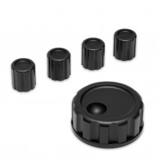 Aluminum Alloy Knob Set for Elecraft KX3 Shortwave Transceiver 1pc Main Knob + 4pcs Small Knobs