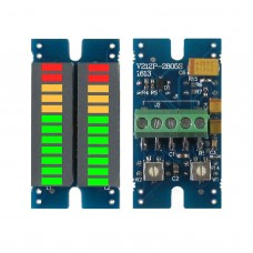 LED Music Audio Spectrum Indicator Dual Channel Stereo VU Meter Volume Level Display Module B Port
