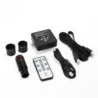 21MP Industrial Microscope Camera HDMI USB Port 2K 1080P 60FPS w/ 0.5X Adapter 30mm & 30.5mm Rings