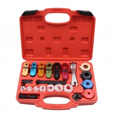 22pcs A/C Air Conditioning Fuel Line Disconnect Tool Set with Carry Case for Ford GM Car