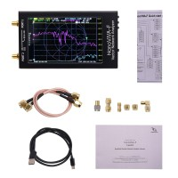 "NanoVNA-F Vector Network Analyzer Antenna Analyzer 10K-1500MHz 4.3"" IPS Button Version Hardware V3.1"