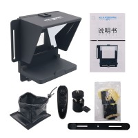 Mobile Phone Teleprompter Portable DSLR Camera Prompter with Remote for Recording Live Broadcast