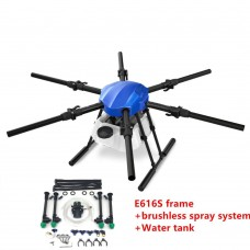 EFT E616S 16L Agricultural Drone Spraying Drone 6 Axis Multi-rotor Hexacopter 16KG Folding Wheelbase Frame Kit with Brushless Sprying System