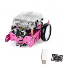 Makeblock mBot DIY Robot Kit Programming Education Robot for STEM Education 1.1 BT 2.4G Version Pink