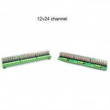 OMRON 24 Channel Relay Module SPDT 24 Ways Driver Board Socket DC 12V 16A 1NO+1NC 35mm Din Rail Mount