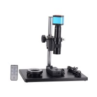 14MP USB Industrial Microscope Camera Stand Kit 1080P with 180X C-Mount Lens 60 LED Ring Light