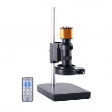16MP USB Industrial Microscope Camera Stand Kit Microscope Magnifier HDMI 1080P w/ 60 LED Ring Light