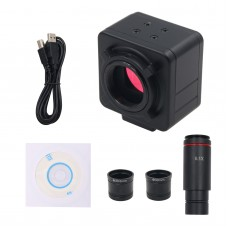 5MP Industrial Camera Industrial Microscope Camera Magnifier with 0.5X C Port Eyepiece Adapter Rings
