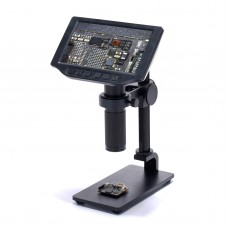16MP Integrated Microscope Camera Stand Kit FHD 1080P w/ 150X Lens For PCB Repair Insect Observation