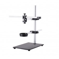 Stereo Microscope Boom Stand Dual Arm 56mm Ring Holder Height 30cm For Industrial Cameras