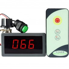 Infrared Remote Control Digital Display Motor Governor 6V 12V 24V PWM Stepless Speed Control Switch