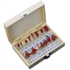15pcs/Set Router Bits 8mm Shank Milling Cutter Carbide Woodworking Trimming Engraving Tools Red