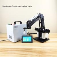 3-Axis Mechanical Robot Arm Industrial Manipulator Desktop Robotic Arm with Air Pump PLC