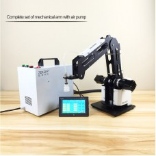 3-Axis Mechanical Robot Arm Industrial Manipulator Desktop Robotic Arm with Air Pump PLC