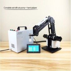 3-Axis Mechanical Robot Arm Industrial Manipulator Desktop Robotic Arm with Air Pump PLC Hand Grab