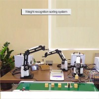 3-Axis Air Pump Mechanical Robot Arm Set Industrial Manipulator with Online PLC Controller Scale