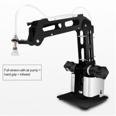 3-Axis Mechanical Robot Arm Manipulator with Air Pump Controller Adapter Infrared Sensor Hand Grab