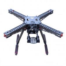 HSKRC59 X450 450mm Full Carbon Fiber Drone Frame Kit w/ Carbon Fiber Landing Gear for F450 S500 S550