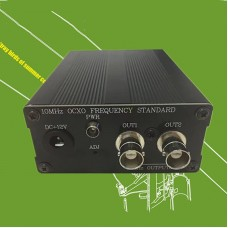 10MHz OCXO Clock Frequency Standard High Stability BNC/Q9 Version Two Output Channel w/ Power Adapter