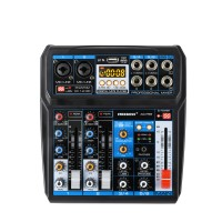 FREEBOSS AG-PS6 6 Channel Audio Mixer DC 5V Power USB Interface 2 Mono 2 Stereo 16 Digital Effects