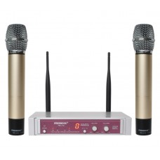 FREEBOSS FB-U10 UHF Wireless Microphone System Dual Way Digital Receiver + 2 Handheld Microphone