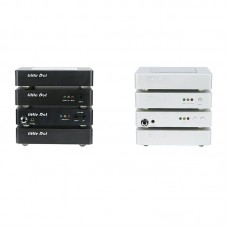 Mini Home Audio System 4pcs Set Linear Power Supply + Media Player + DAC Decoder + Headphone Amp