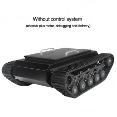 TR500 Tracked Robot Chassis Tank Chassis Assembled Shock Absorption Load 50KG without Control Kit