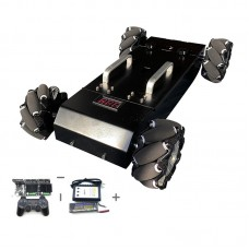 MC200 Robot Car Chassis 4WD RC Car Assembled Mecanum Wheel with Encoding Disk + Control Kit