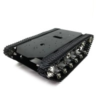 TS700 Tracked Robot Chassis Robot Tank Chassis Metal Track w/ Motor Encoding Disk without Controller