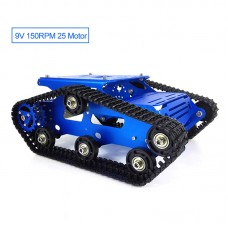 TR300P Tank Chassis Obstacle Avoidance Robot Car Chassis Kit Unassembled with 9V 150RPM 25 Motor