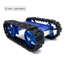 Mini T10 Tracked Robot Chassis Robot Tank Chassis Unassembled with DC Gear Motor