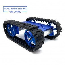 Mini T10 Tracked Robot Chassis Robot Tank Chassis Unassembled 9V 150RPM Motor with Code Disc