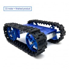 Mini T10 Tracked Robot Chassis Robot Tank Chassis Assembled with DC Gear Motor