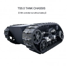 TS5.0 Tank Chassis Obstacle Crossing Crawler Assembled Load 100KG with Controller Kit