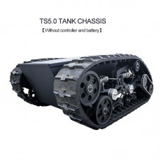 TS5.0 Tank Chassis Obstacle Crossing Crawler w/ Motor Assembled Load 100KG without Controller Kit