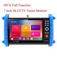 "4K 7"" IPC Tester IP Camera Tester CCTV Tester H.265 8MP (AHD + CVI + TVI + SDI) IPC-X Full Function"