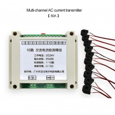 Multichannel AC Current Transmitter RS485 Acquisition Module 10 Channels Current Detection Module 50A