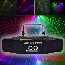 LED RGB Stage Lights Sound Activated Laser Beam Light DMX 512 for KTV Disco Party Club Bar