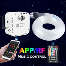 32W Fiber Optic Light 12V LED RGB Twinkle Ceiling Light Starry Lamp App Control with 400pcs 5M Cable