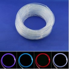 Fiber Optic Cable LED Strip Light Guide Tube Side Full Cable Glow 6MM*5M for Car Home Decoration
