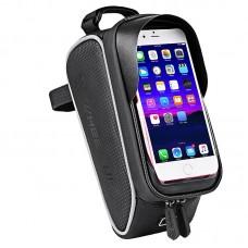 "Wheel Up Bike Phone Bag Waterproof Bicycle Frame Front Tube Bag Handlebar 6"" Touch Screen 023 Pattern"
