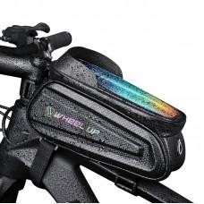 Wheel Up EVA Bike Phone Bag Waterproof Bicycle Frame Handlebar Front Tube Bag Colorful Reflective